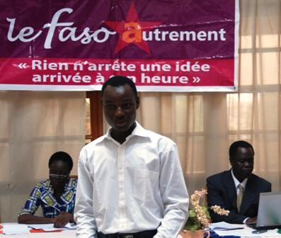 Aristide Ouédraogo, doctorant et membre de l'équipe d'experts ayant travaillé sur le projet de société du parti. Ph.B24