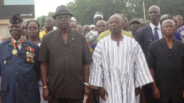 D'anciens combattants étaient présents à la Place de la Nation (Ph : B24)