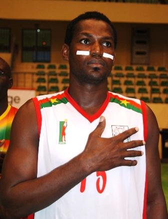 Mamadou Savadogo dit Mike, vice-capitaine des Étalons basketteurs © Burkina 24