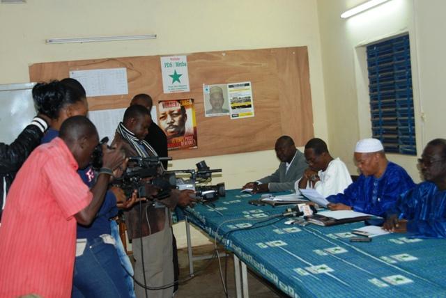 Le PDS/Metba a donné son point de vue sur le rapport sur le sénat aux journalistes (Ph : B24)