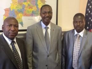 De gauche a droite le nouveau elu Senateur , S.E.M Seydou BOUDA et Adama Ben Gaston SAWADOGO