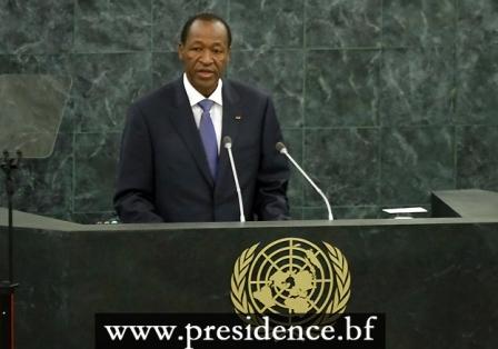 Le Président du Faso, Blaise Compaoré s'adressant à la communauté internationale (PH:DR)
