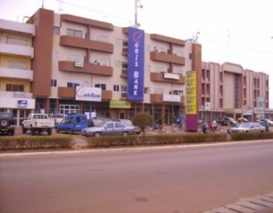 Le siège de Coris Bank international à Ouaga.