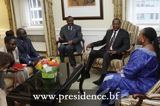 La Procureure de la CPI  a été reçue en audience par le Président du Faso (Ph : Présidence du Faso)