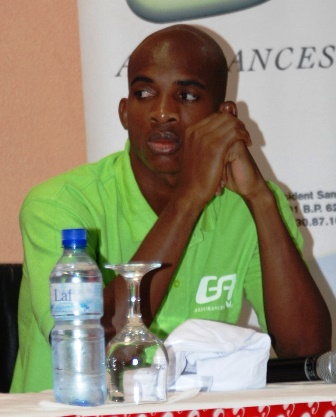 Charles Kaboré à la conférence de presse lors de la rencontre face au Gabon © Burkina 24