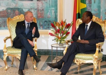 Jean-François LISÉE en audience avec le Président du Faso. Ph.B24