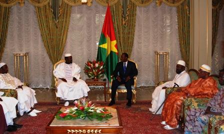 Les premiers responsables de la communauté musulmane ont été reçus ce samedi 14/09/2013 par le Président du Faso. Ph.B24