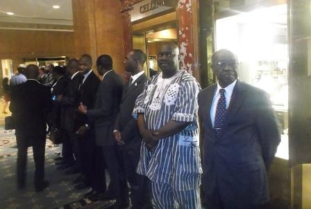Le comité d'accueil du Président du Faso à New York