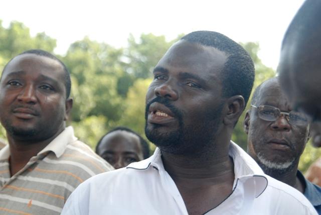 """Paulin Kaboré, porte-parole des artisans : """"l'expertise est là, la capacité est là"""" (Ph : B24)"""