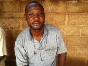 Mr Bouda, une des autorite du marche