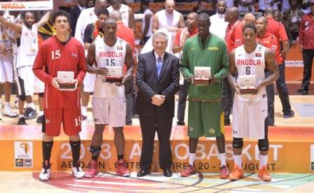 Le cinq majeur de l'Afrobasket sans Souleymane Diabaté de la Côte d'Ivoire absent sur cette photo