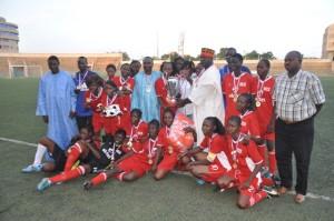 Les filles de l'USO étaient les plus fortes au tournoi de l'Avenir du football féminin (ph. Rémy Zoéringré)