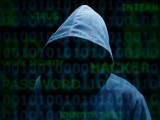Hooded silhouette of a hacker
