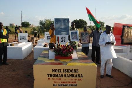 La tombe a été repeinte à l'occasion du 26e anniversaire (Ph : Burkina 24)