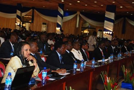 Une vue des participants au forum TIC