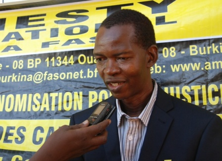 Moussa Ouédraogo, coordonnateur EDH Amnesty Burkina. © Burkina24