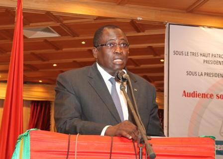 Le ministre de la justice, garde des sceaux, Dramane Yameogo.