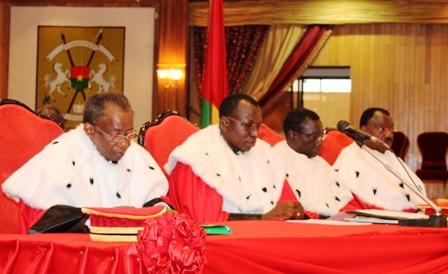 Les premiers présidents des hautes juridictions du Burkina.