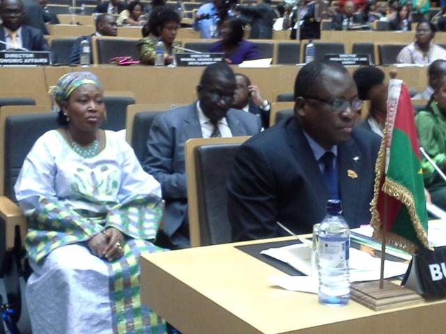 Les représentants du Burkina au sommet de l'U.A (Ph : MAECR)