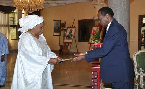 Anta Coulibaly Diallo a présenté ses lettres de créance le 17 septembre dernier au Président du Faso