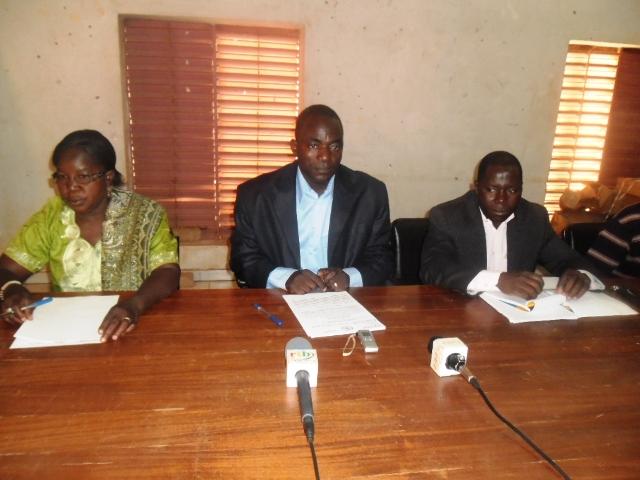 La conférence de presse de la CGT-B s'est tenu sans le Secrétaire général (Ph : DR)