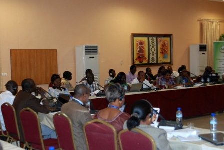 Une vue partielle des participants à l'atelier régional sur la protection sociale. Ph.B24