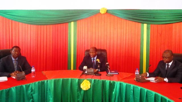 Les ministres présents au point de presse du gouvernement du 21 novembre 20.13 (Ph: B24)
