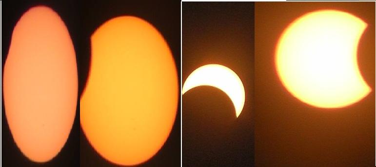 L'évolution de l'éclipse selon les images envoyées par un lecteur de Burkina 24 (Ph : DR)
