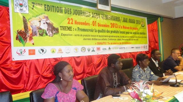 Les promoteurs des JAAL veulent faire des produits alimentaires burkinabè, des produits de qualité (Ph : B24)