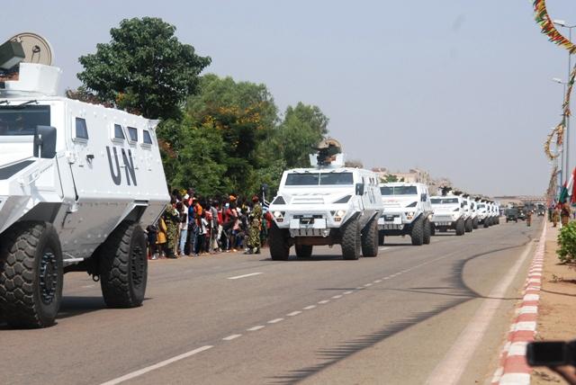 Des véhicules du Groupement de forces anti-terroristes (Ph : B24)