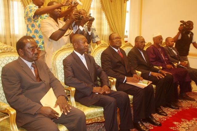 Les membres de la délégation au palais présidentiel (Ph : DR)