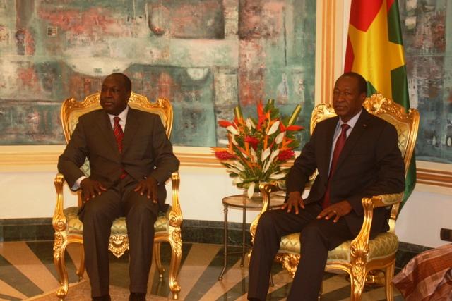 Zéphirin Diabré en audience avec le Chef de l'Etat Blaise Compaoré (Ph : DR)