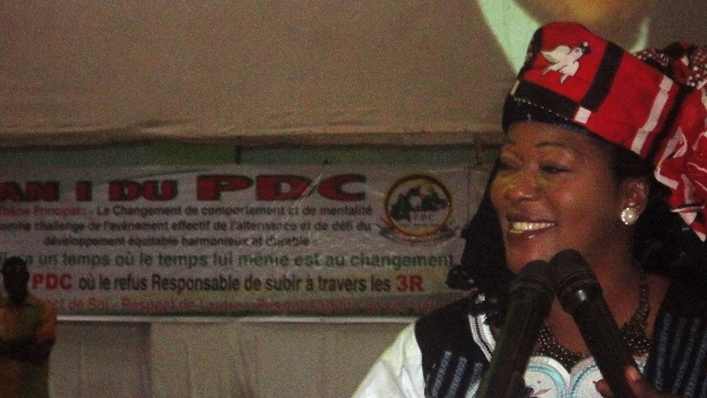 Saran Sérémé à l'AN 1 de son parti, le PDC, le 15 décembre 2013 (Ph : B24)