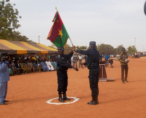 Transfert de pouvoir au nouveau commandant de la CRS de Ouaga-Nord (Ph : B24)