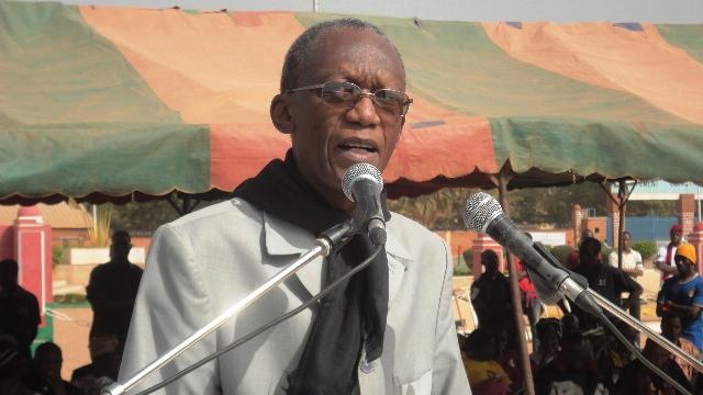 """Chryzogone Zougmoré, président du CODMPP : """"l'essentiel pour nous, c'est la réouverture du dossier Norbert Zongo"""" (Ph : B24)"""