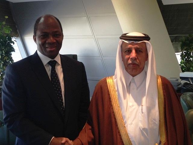 Le ministre burkinabè avec le Vice Premier ministre quatari (Ph : MAECR)