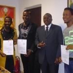 Le ministre Baba Hama félicite les Etalons de la musique