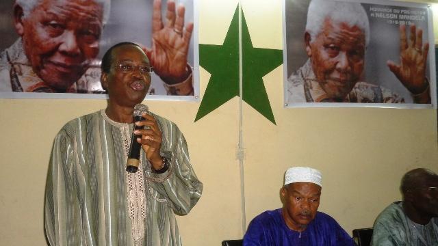 """Etienne Traoré, vice-président du PDS/Mètba : """"C'est un devoir pour nous de lui rendre cet hommage"""" (Ph : B24)"""