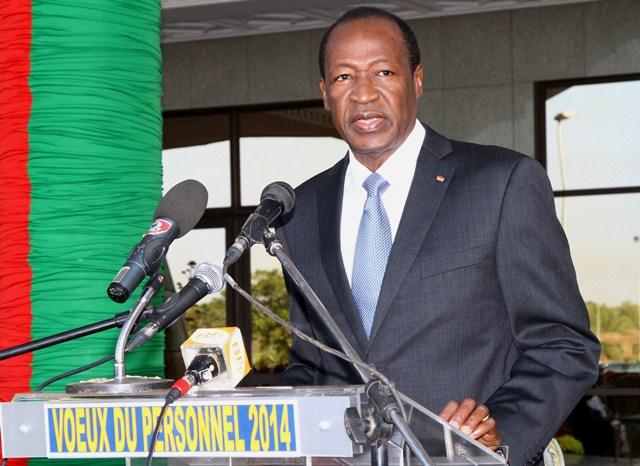 Blaise Compaoré, le 28 décembre 2013 à la Présidence du Faso (Ph : Présidence du Faso)