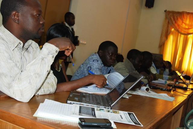 Les membres du groupe thématique AEPHA à l'atelier de lancement du projet (Ph : B24)