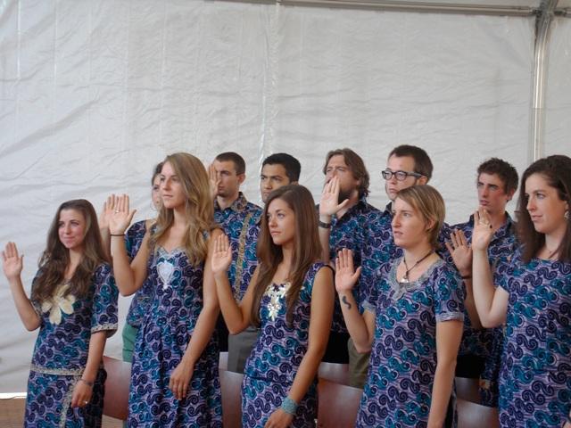 Les nouveaux 30 volontaires du Corps de la paix ont prêté serment (Ph : B24)