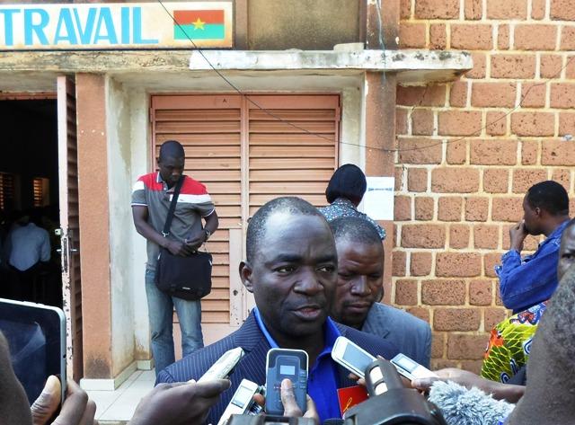 Bassolma Bazié, Secrétaire général de la CGT-B (Ph : B24)