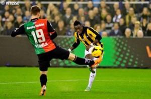 Bertrand Traoré  a disputé son deuxième match avec Vitesse Arnhem