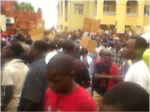 Des manifestants à Bobo-Dioulasso (Ph : DR)