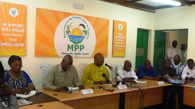 Les leaders du MPP à la conférence de presse ce mardi (Ph : B24)