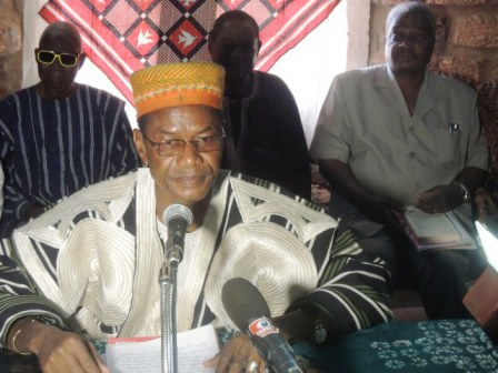 Le Laarlé Naaba lors de sa conférence de presse ce mardi 21 janvier 2014.