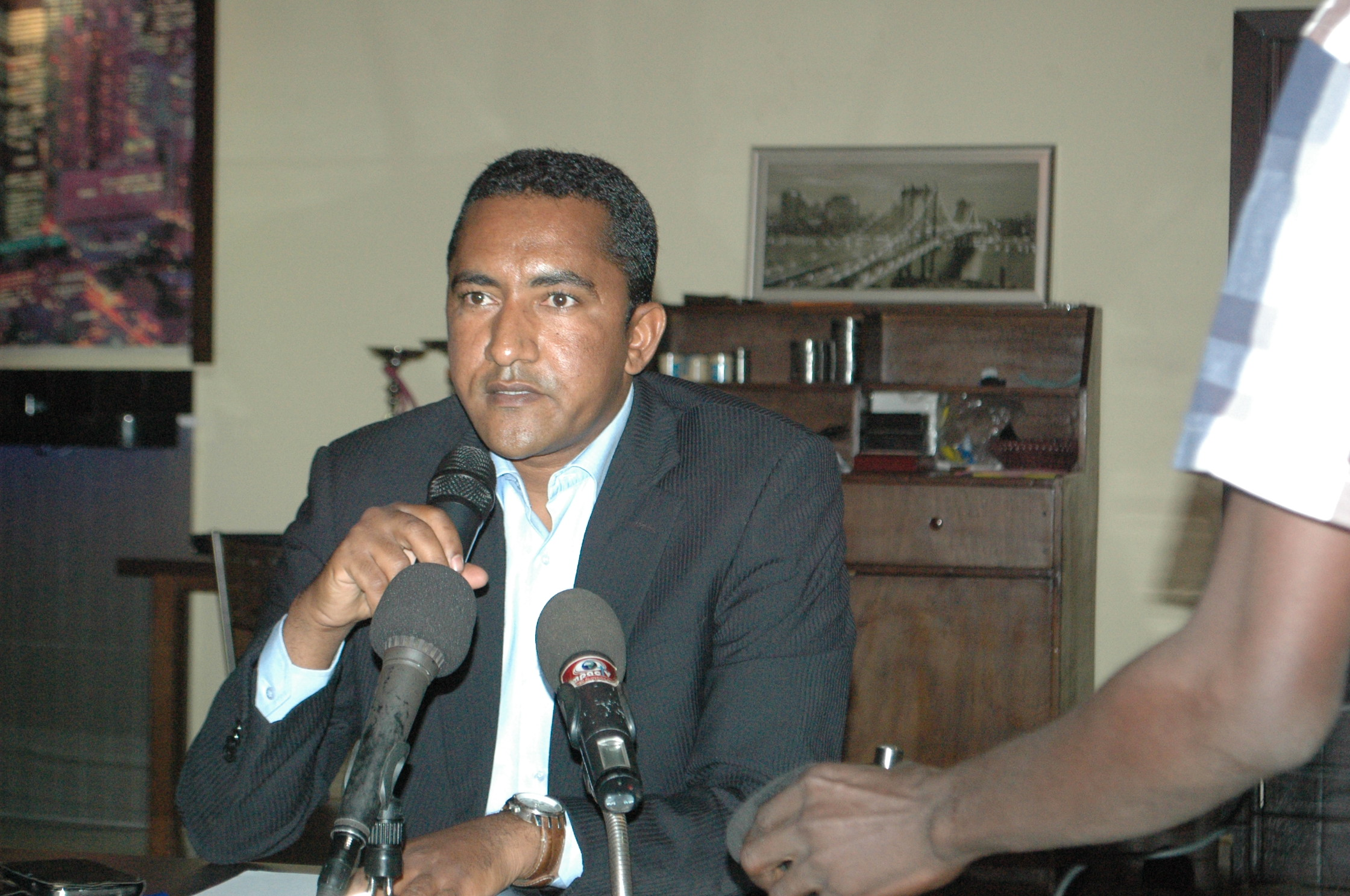 Mossa Ag Attaher, porte-parole des mouvements MNLA, HCUA et MAA (Ph : B24)