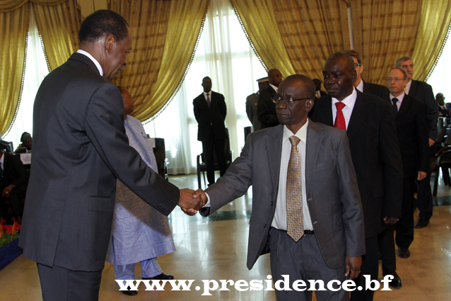 Le corps diplomatique a présenté ses voeux au Chef de l'Etat (Ph : Présidence du Faso)