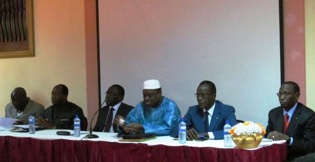 Dans ce Front républicain, on retrouve entre autres, Alain Zoubga, Ram Ouédraogo,  Herman Yaméogo, Assimi Kouanda et Toussaint Abel Coulibaly (Ph : B24)
