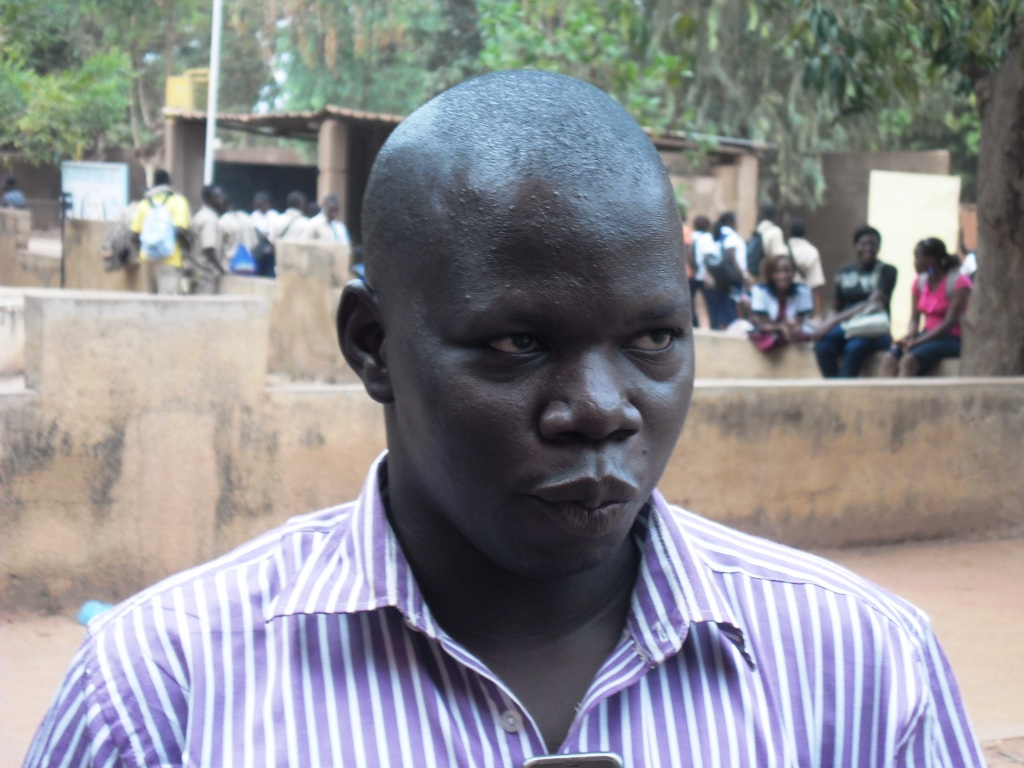 Le chargé de communication de l'AJSFB, Gérard Baboué © Burkina 24